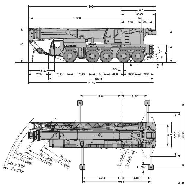 автокран 160 тонн Liebherr LTM 1160-5.1