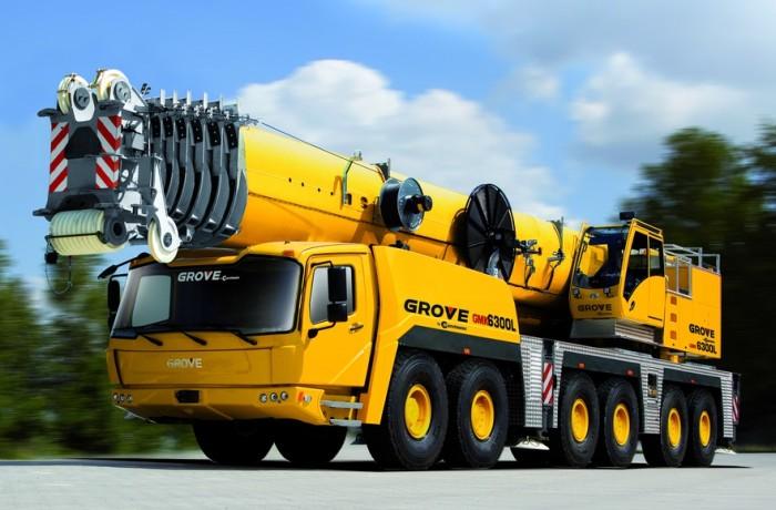 Автокран 300 тонн GROVE GMK 6300 в аренду